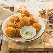 Recette d'arancini a la truffe, boulettes de risotto