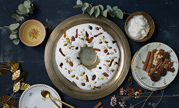 The vegan  pavlova of Alain Ducasse x Angèle Ferreux-Maeght