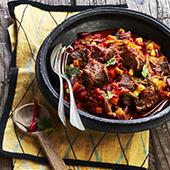 Recette boeuf spicy, poivron et haricots rouges