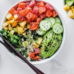 Poke Bowl at Débonnaire café