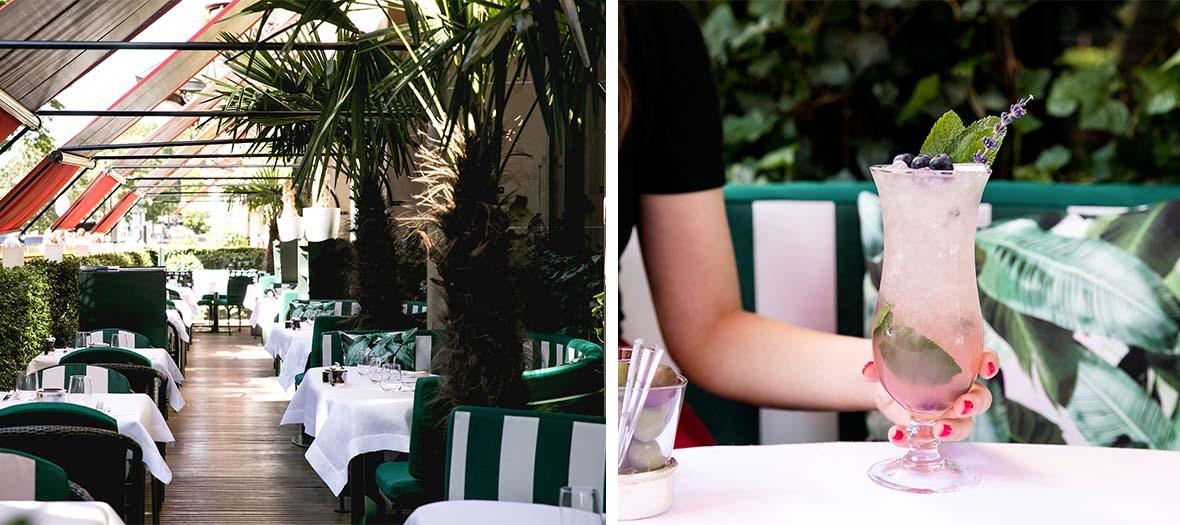 Restaurant californien au Plaza Athénée