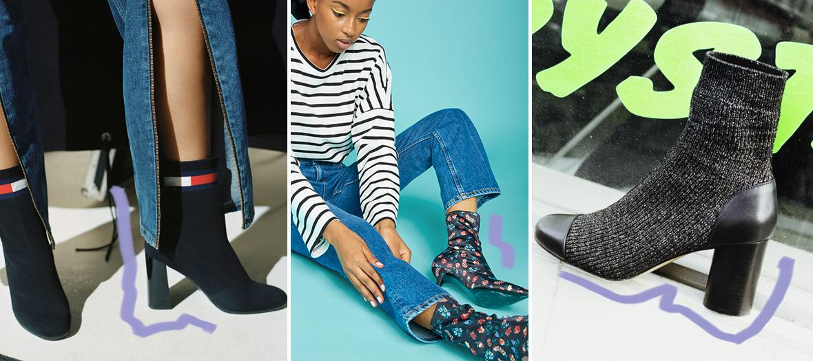 boots chaussettes