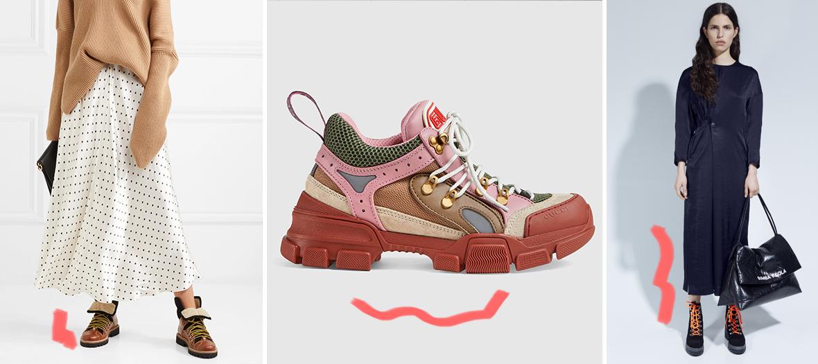 Bottines en daim et en cuir Ganni, Sneakers Flashtrek Gucci et Bottines  Bimba y Lola be33d8abf7a