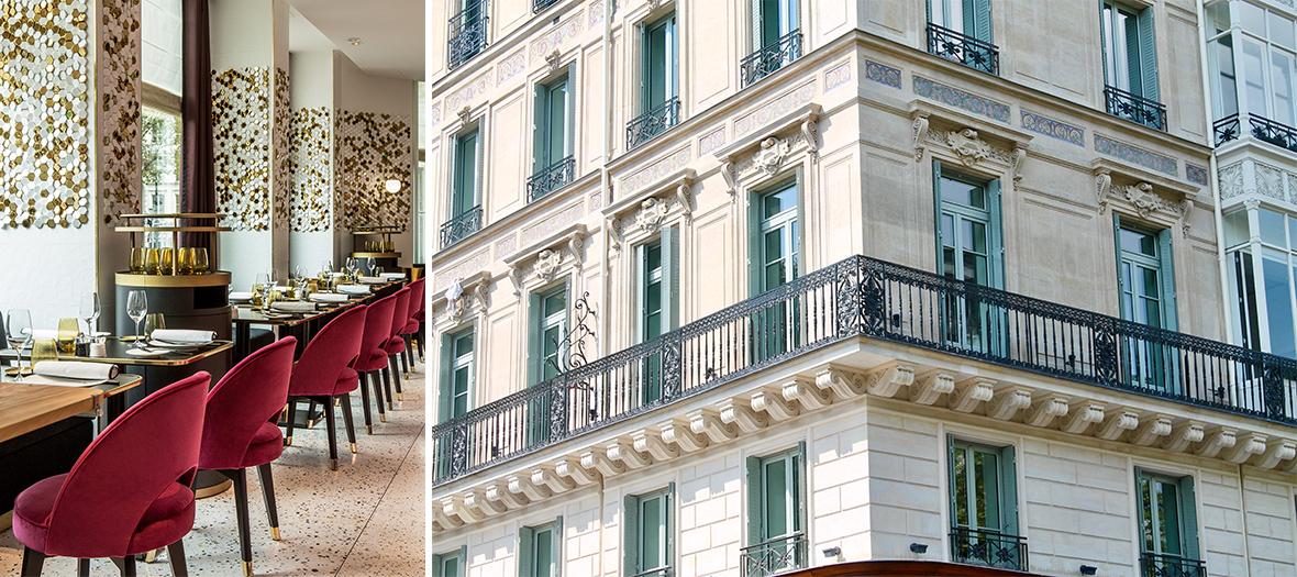 restaurant et extérieur de l'hôtel  Fauchon