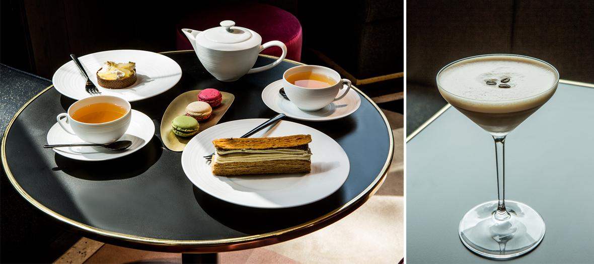 Salon de thé et bar à cocktails du restaurant de l'hôtel Fauchon