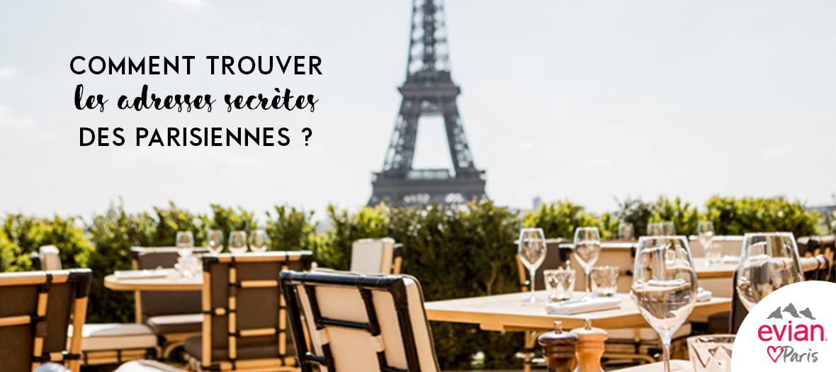 Terrasse avec vu sur la tour Eiffel