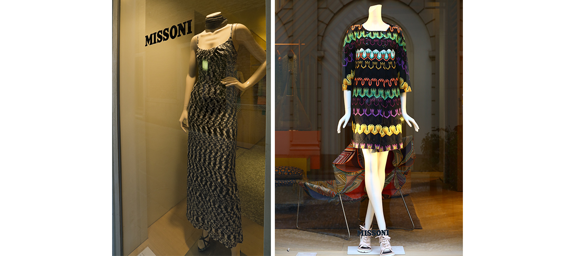 Vitrines du magasin d'usine Missoni