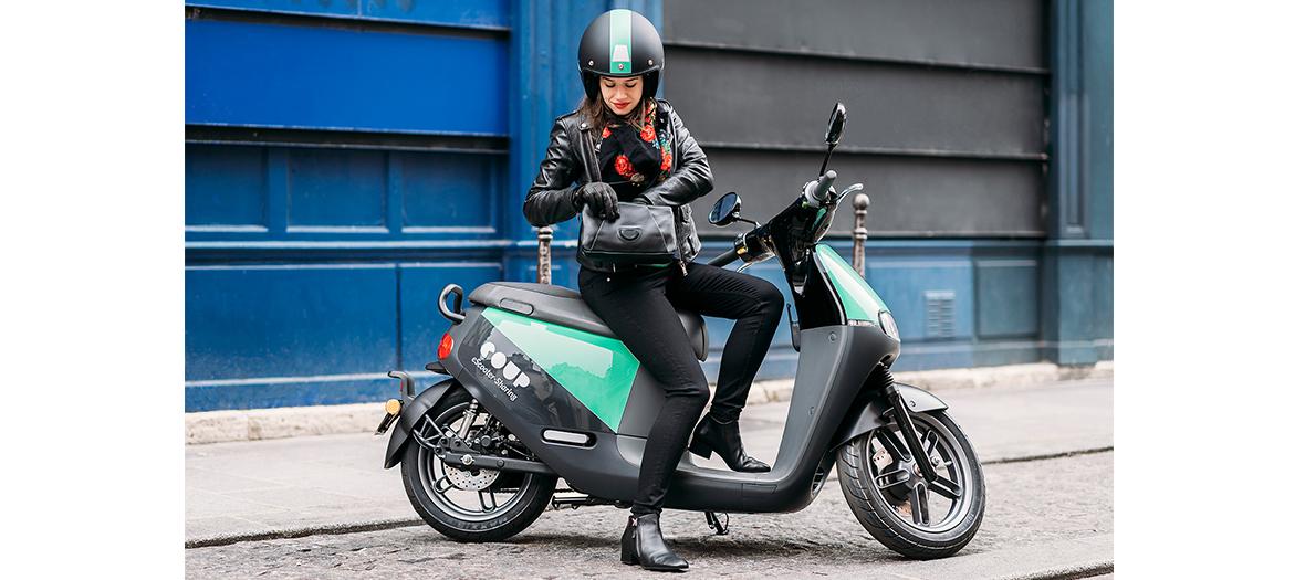 Scooters électriques en libre service
