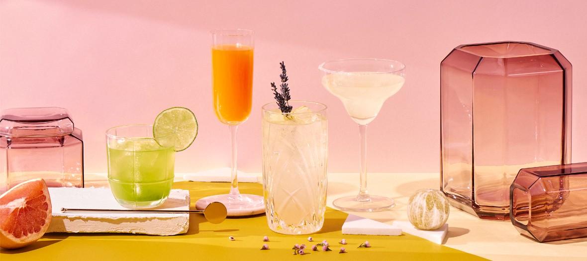 Cocktail margarita, cointreau fizz, cosmopolitan et side car à l'événement éphemère Cointreau fizz
