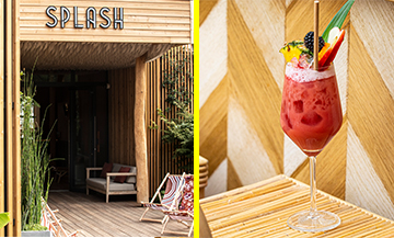 Bistro facade and Splash cocktail of Hakim Gaouaoui and Topchef Norbert Tarayre