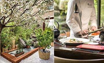 Restaurant japonais avec jardin japonais à Paris