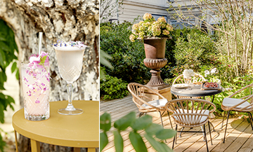 The coolest cocktails garden in Paris
