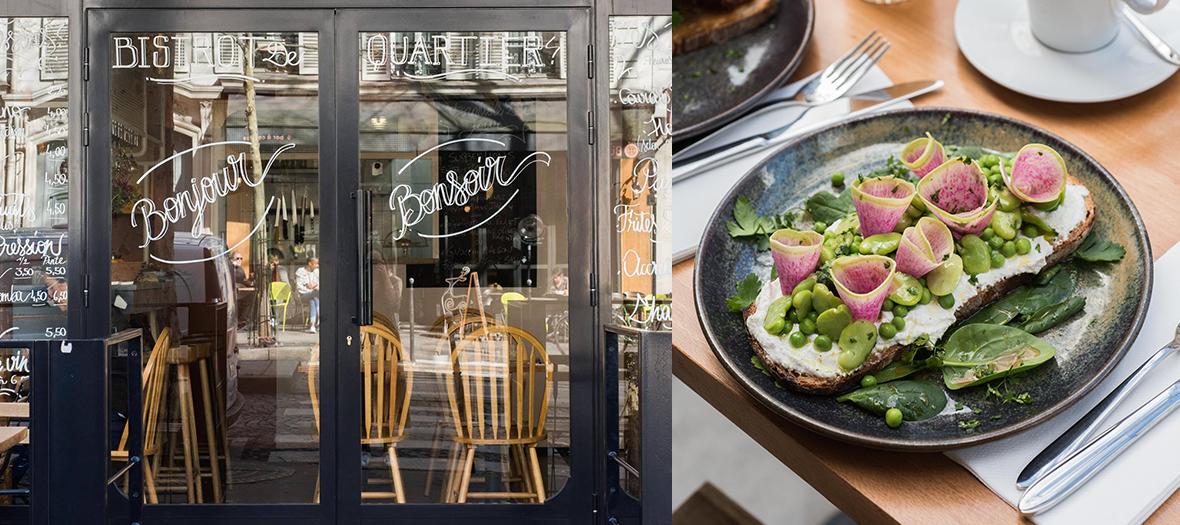 Burrata des Pouilles et légumes confits au restaurant Bonjour Bonsoir à Paris