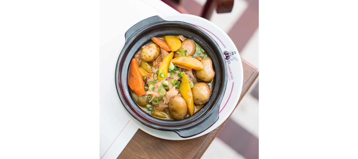 French meat broth, potato, carrot, truffle oil