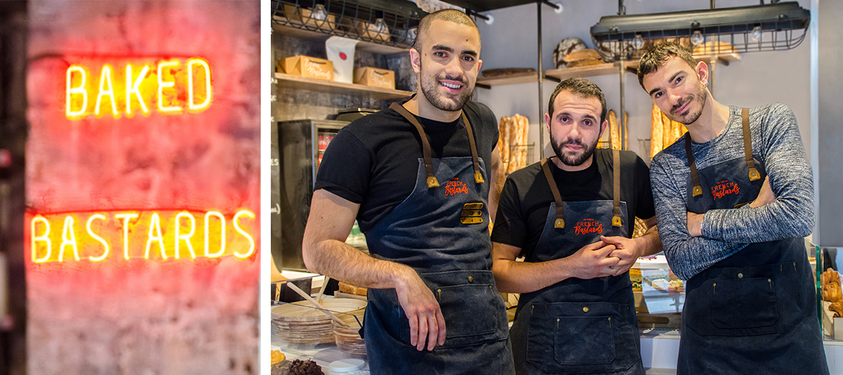 Portrait de Julien Abourmand, David Abehsera et Emmanuel Gunther à la boulangerie Bastards