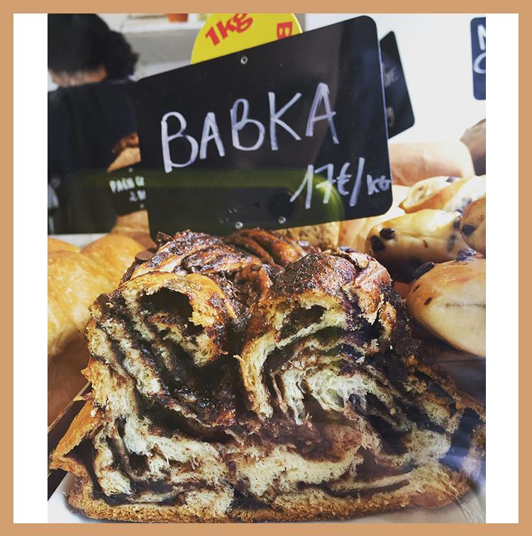 Babka de la boulangerie Mamiche à Paris