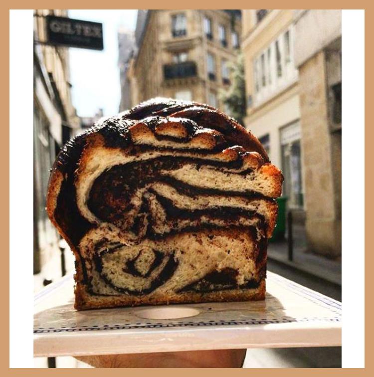 Babka from the bakery Salatim in Paris