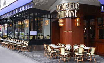 Monsieur madame, a concept-store brasserie in the 17th