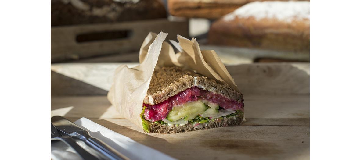 Sandwich de la boulangerie Tartine