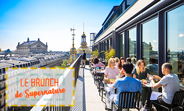 Brunch veggie sur le rooftop du Supernature