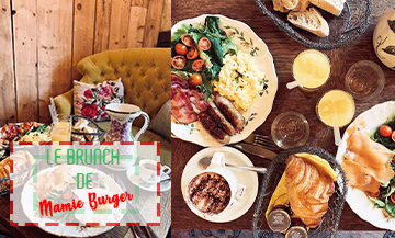 English Brunch at Mamie Burger in Paris