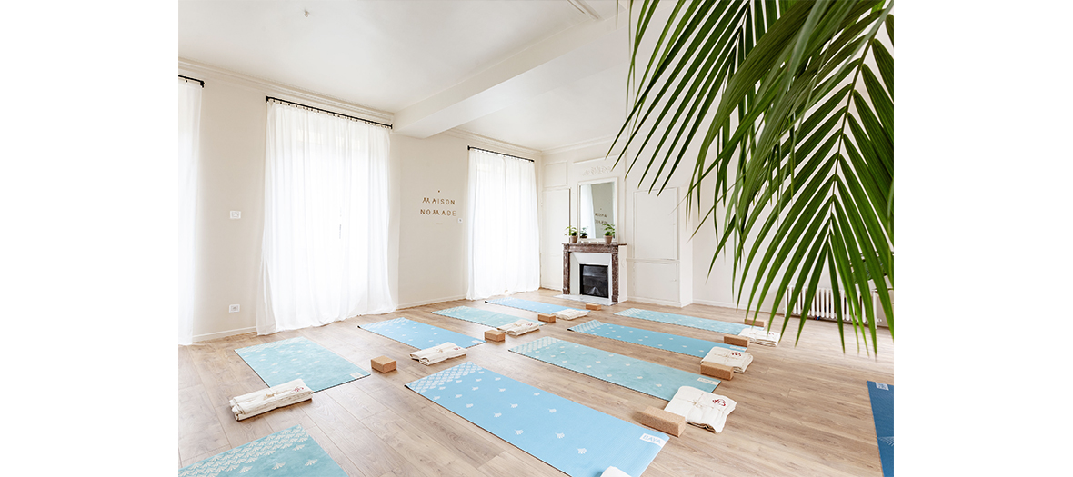 Yoga room at Maison nomade in Paris