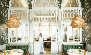 Portrait of Liza Asseily and interior atmosphere of Liza restaurant
