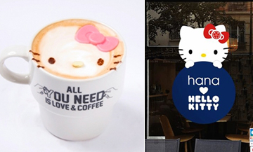 An ephemeral Hello Kitty café in Paris