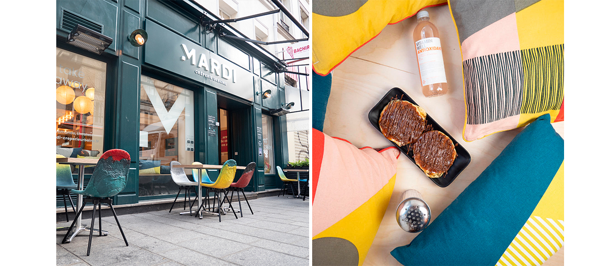 New creperie at Marais in Paris