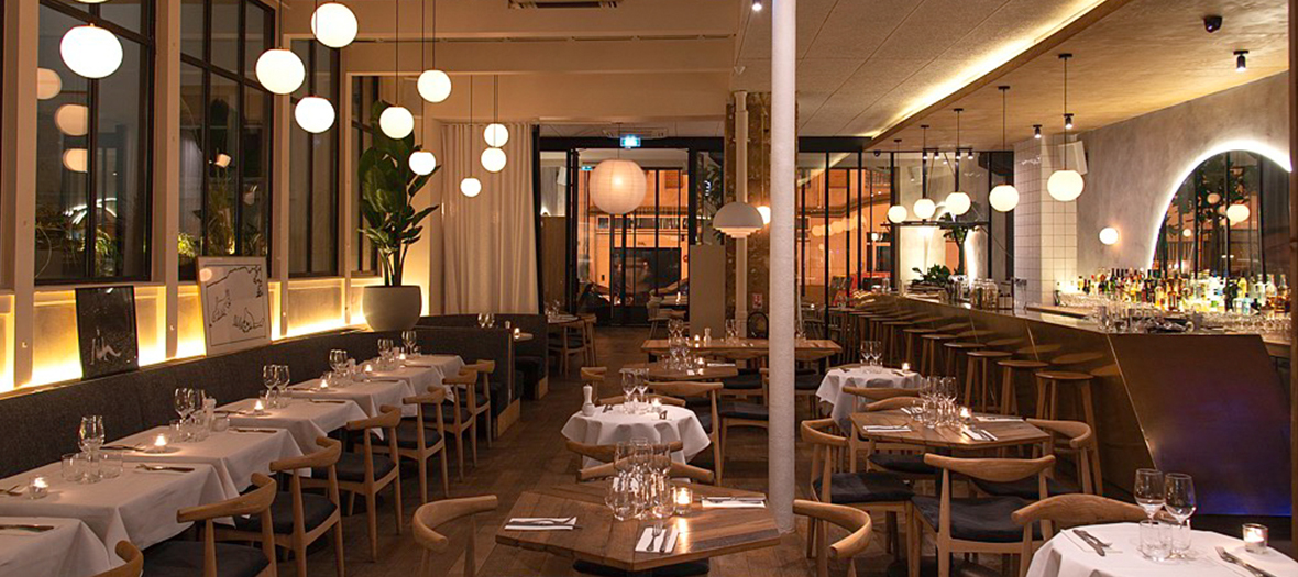 Ambiance interieur du Restaurant et pizzeria Malro dans le Marais
