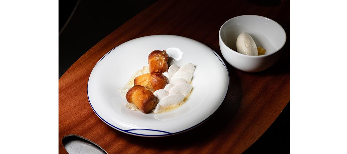 Les spécialités du chef carpaccio de seiche, vitello tonnato, baba au rhum