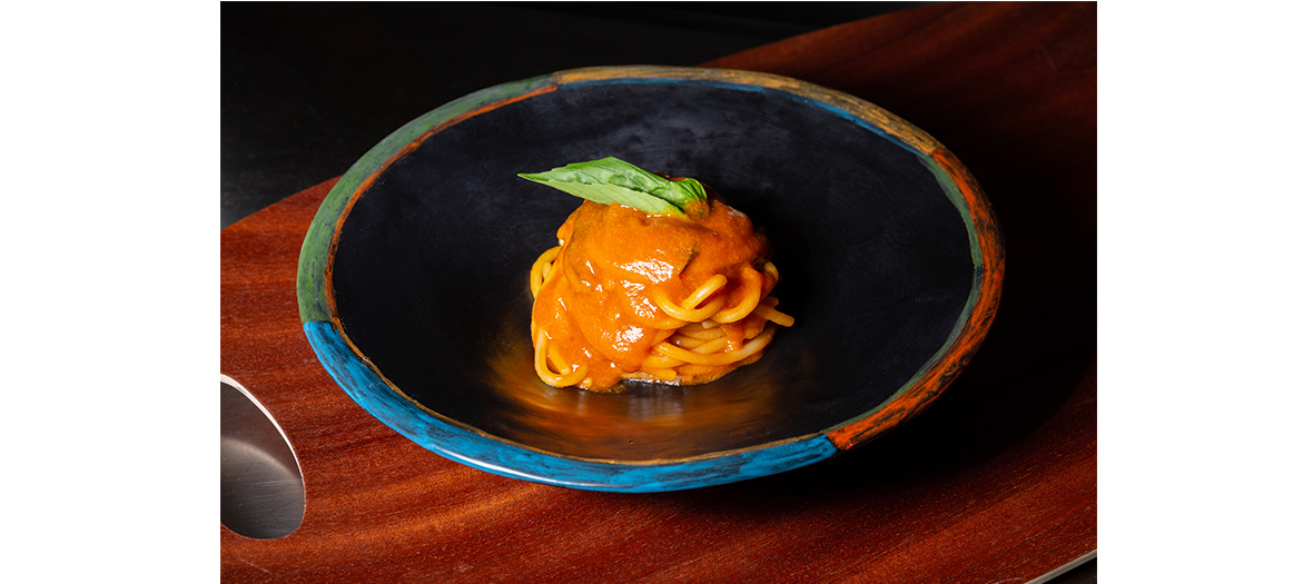 Plat de spaghetti aux fruits de mer du chef Ivan Ferrara
