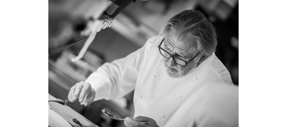 Portrait de Pierre Gagnaire au restaurant pierre tt