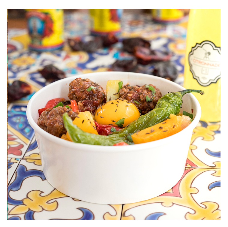 Couscous with vegetables, beef, merguez, chicken with olives or veggie of the chef Yoni Saada