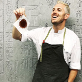 Portrait of Chef Frank Haasnoot guest of Yann Couvreur