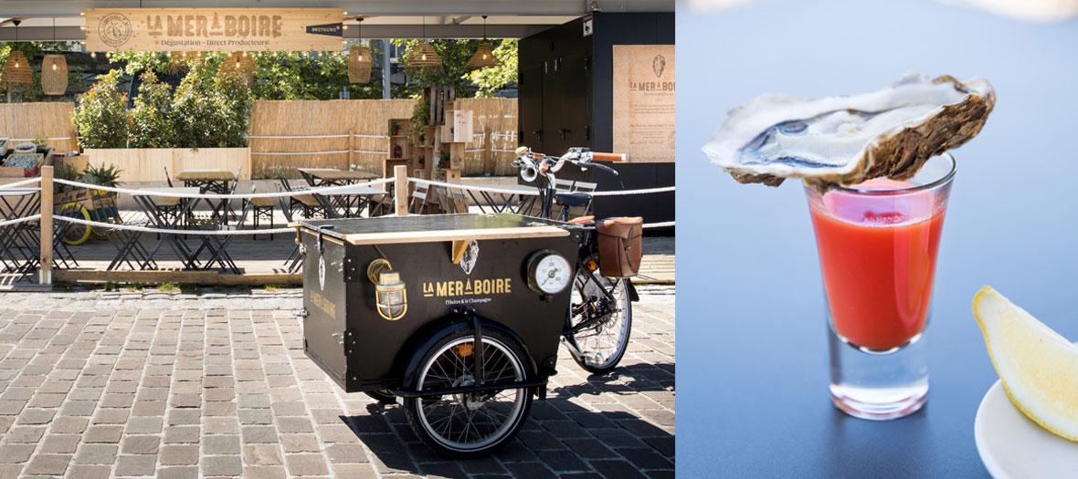 Food truck champagne, huîtres et fruits de mer