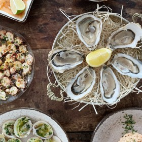 Sea food tray at Oyster Club in Paris