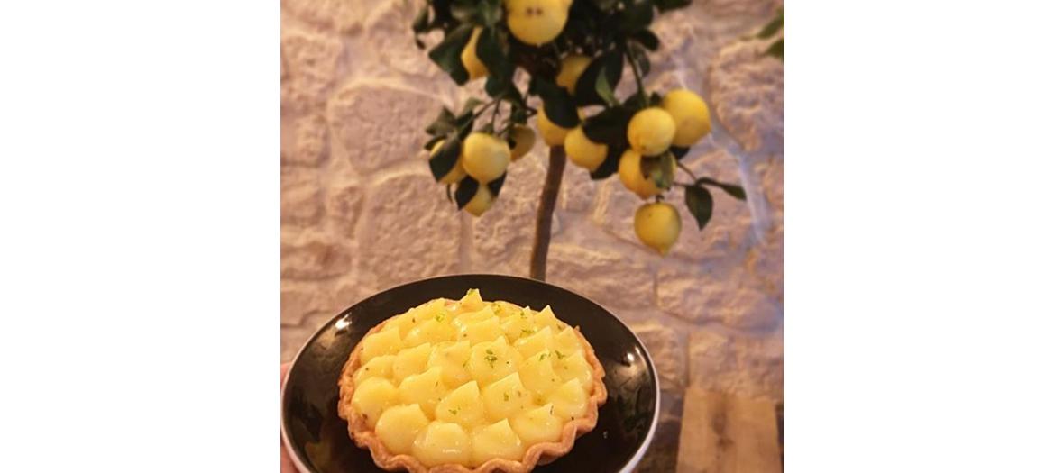 Tarte au citron du restaurant L'Enveloppe