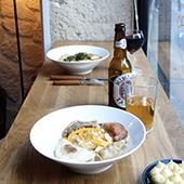 Chausson farci, gyoza au porc du restaurant l'Enveloppe dans le Sentier à Paris