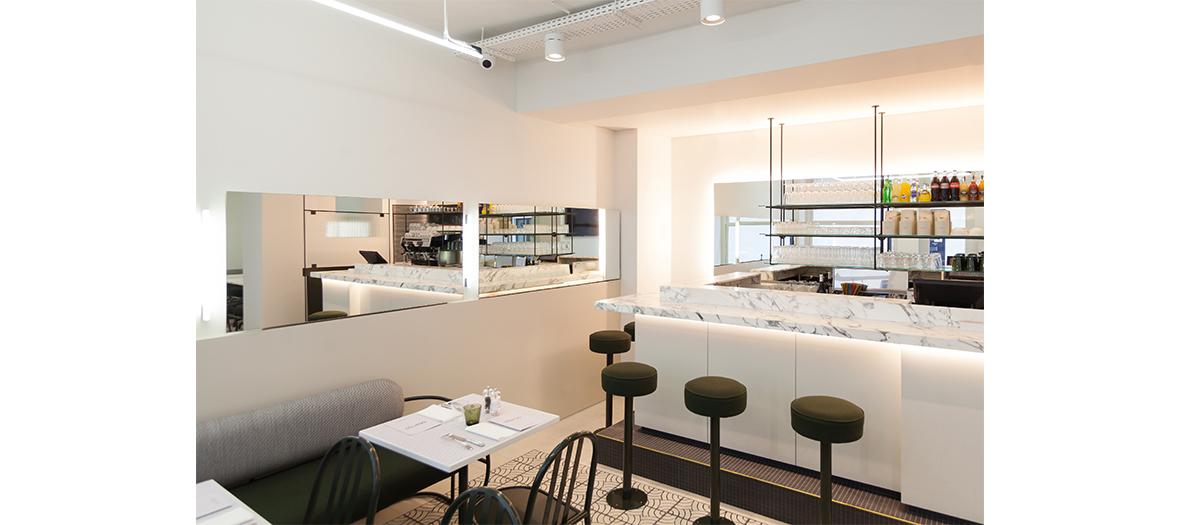 Interior atmosphere of Marc Giami's Mar'CO restaurant in Paris