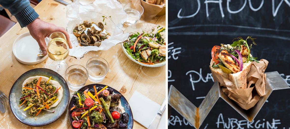 Barbecue mangal au poisson, à la viande et aux légumes chez Shouk