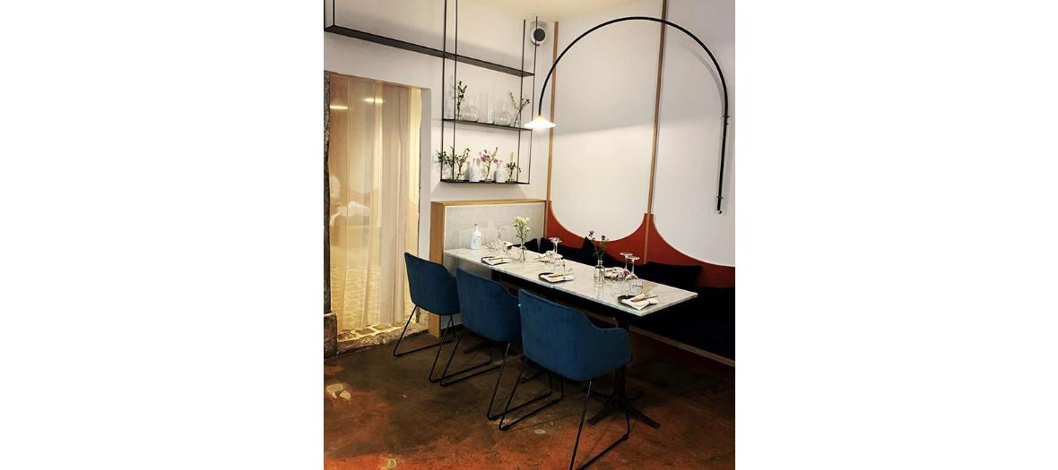 Indoor atmosphere of the restaurant room