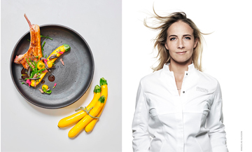 Portrait of the chef Amandine Chaignot of the restaurant Pouliche
