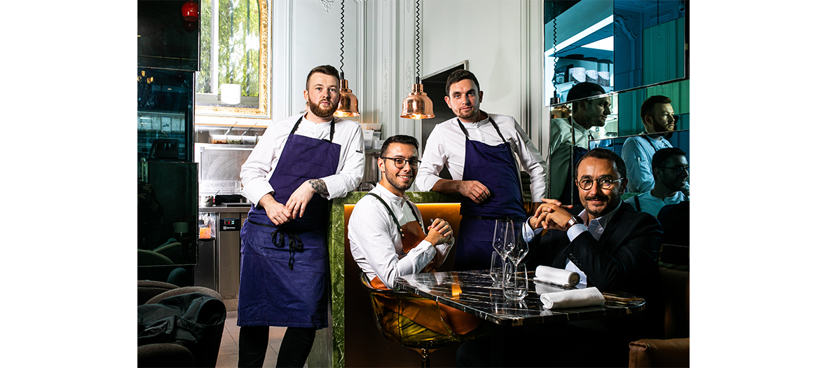 Kevin de Porre and Erwan Ledru both chefs of restaurant Contraste in Paris