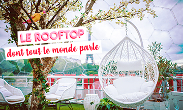 Rooftop du Monsieur Mouche avec bar à cocktails