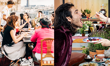 French chef Julien Sebbag at Galeries Lafayette Haussmann on his rooftop restaurant in Paris Haussmann