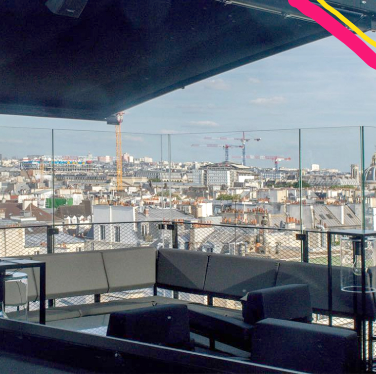 le montana saint germain rooftop on a sunny day