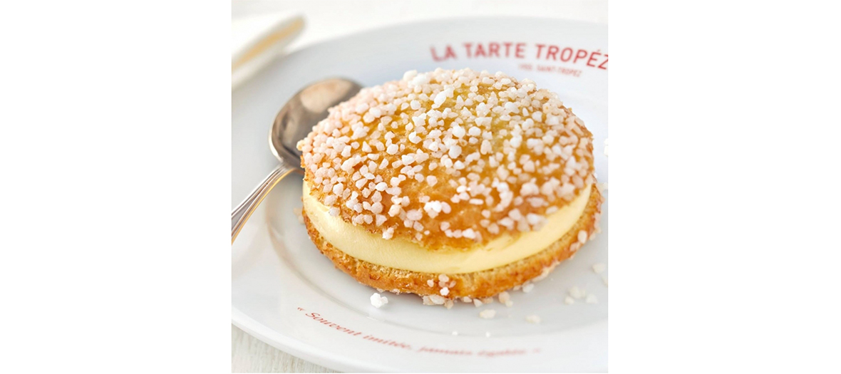Plat de la tarte tropezienne saveur vanille créer par le pâtissier Micka pour Roger Vadim