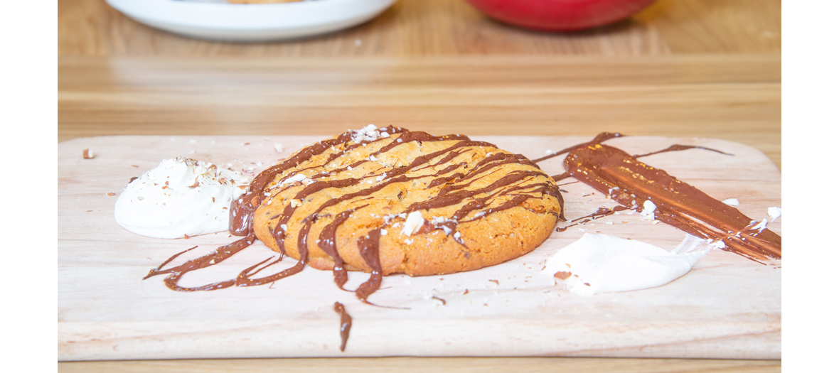 Desserts sans lactose, cookie chantilly