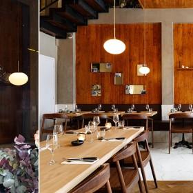 Inside room of the Lombem restaurant in Paris